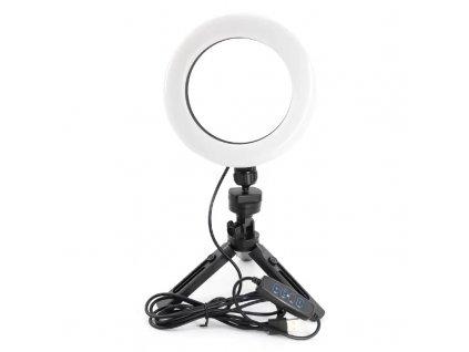 Kruhové LED Ring světlo 16cm s mini stativem pro makeup a natáčení videa
