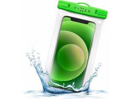 Voděodolné plovoucí pouzdro na mobil FIXED Float Edge s kvalitním uzamykacím systémem a certitikací IPX8, limetková