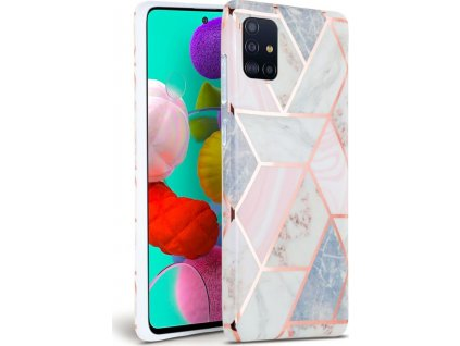 TECH-PROTECT MARBLE GALAXY A51 PINK