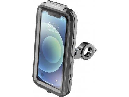 """Univerzální voděodolné pouzdro na mobilní telefony Interphone Armor, úchyt na řídítka, max. 5,8"""", černé"""