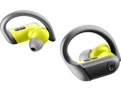 True wireless sluchátka Cellularline Sprinter se sportovními nástavci, černo-žlutá
