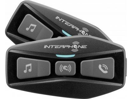 Bluetooth headset pro uzavřené a otevřené přilby Interphone U-COM2, Twin Pack