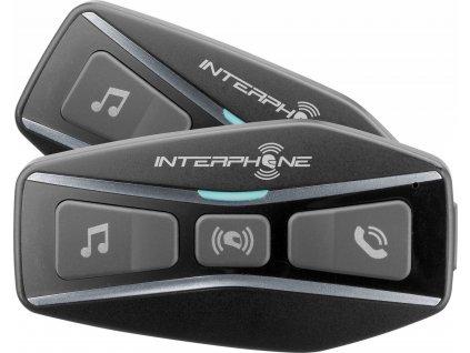 Bluetooth headset pro uzavřené a otevřené přilby Interphone U-COM4, Twin Pack