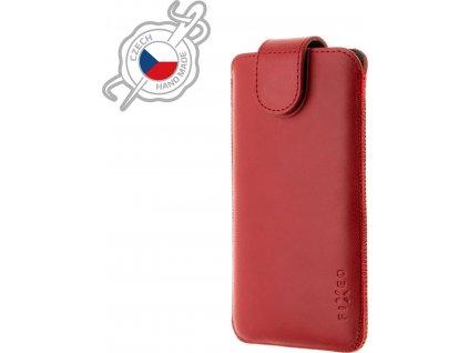 Kožené pouzdro FIXED Posh, velikost 5XL, červené