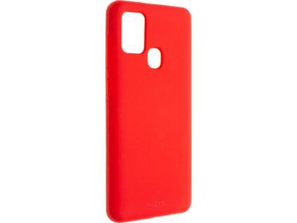 Zadní kryt FIXED Flow pro Samsung Galaxy A21s, červený