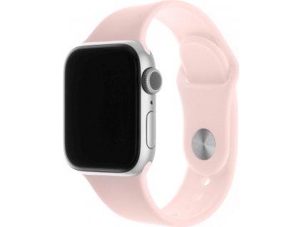 Set silikonových řemínků FIXED Silicone Strap pro Apple Watch 38/40/41 mm, růžový