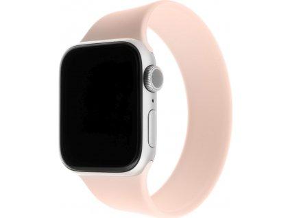 Elastický silikonový řemínek FIXED Silicone Strap pro Apple Watch 42/44mm, velikost L, růžový
