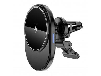 Držák do auta Clearo MagSafe / Bezdrátová rychlá nabíječka pro iPhone řady 12 a 13, černý