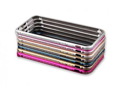 Luxusní kryt pro iPhone 6/6S - Crystal Steel Shield (Barva Stříbrno/zlatý)