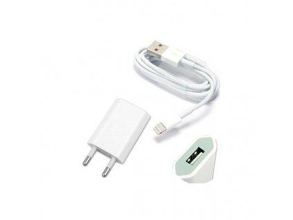 Nabíjecí sada adaptér + USB kabel Lightning pro Apple iPhone 5/ 5S / 5C / SE a 6 / 6S / 6 PLUS / 6S PLUS / 7 / 7 PLUS / 8 / 8 PLUS / X