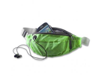 6471 sportovni pouzdro ledvinka na pas pro mobilni telefon univerzalni 4 7 waist case active zelena