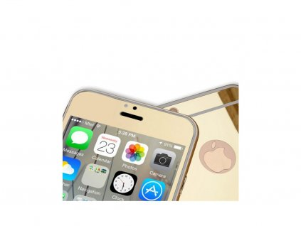 Zrcadlové tvrzené sklo Mirrori (přední + zadní) pro iPhone 6 PLUS/6S PLUS (Barva Zlatý)