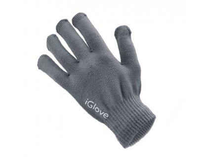 8619 panske rukavice pro kapacitni displeje winter smartphone gloves sede