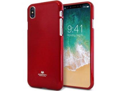 Kryt Jelly Case Mercury pro Apple iPhone X, red