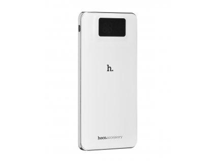 Externí baterie / Powerbanka HOCO UPB05 10 000 mAh LCD POWER BANK - bílá