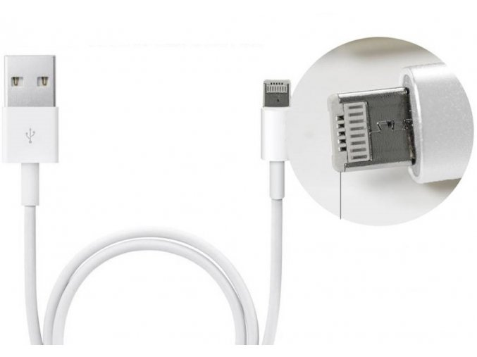 USB kabel Clearo 2v1 s konektorem Lightning + Micro USB pro Apple iPhone - 1m