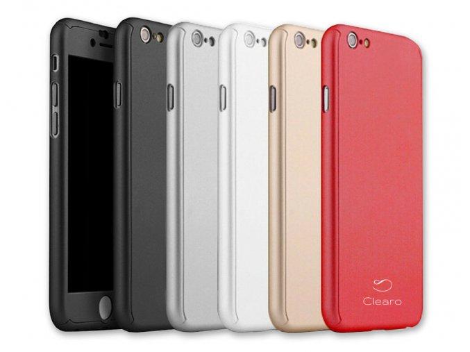 Kryt Clearo Luxury Defender 360 + tvrzené sklo na displej pro iPhone 6/6s