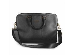 """Luxusní taška GUESS 4G UpTown pro 15"""" notebook, černá"""