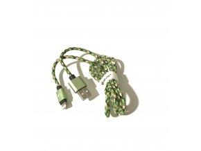 USB kabel TD-LTE Lightning pro Apple iPhone 5/5S/5C/SE a 6/6S/6 PLUS/6S PLUS/7/7 Plus/8/8 Plus/X a iPad, Green Camouflage
