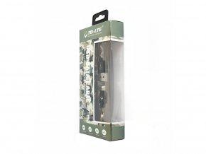 USB kabel TD-LTE Lightning pro Apple iPhone 5/5S/5C/SE a 6/6S/6 PLUS/6S PLUS/7/7 Plus/8/8 Plus/X a iPad, Camouflage
