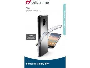 Extratenký zadní kryt CellularLine Fine pro Samsung Galaxy S9 +, bezbarvý
