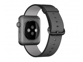 Clearo Hard Nylon řemínek : pásek pro Apple Watch 42mm – Black 2