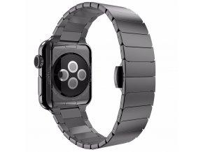 Clearo Butterfly kovový řemínek / pásek pro Apple Watch 42mm – Černý