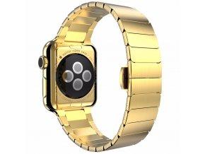 Clearo Butterfly kovový řemínek / pásek pro Apple Watch 42mm – Zlatý