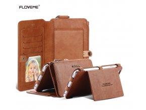 Pouzdro s peněženkou FLOVEME Retro 2v1 pro iPhone 5/5S/SE (2 varianty)