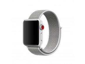Clearo Sport nylonový řemínek : pásek pro Apple Watch 42mm – bílý