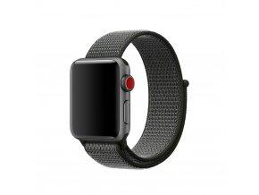 Clearo Sport nylonový řemínek : pásek pro Apple Watch 42mm – černo šedý