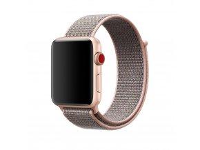 Clearo Sport nylonový řemínek : pásek pro Apple Watch 42mm – světle růžový