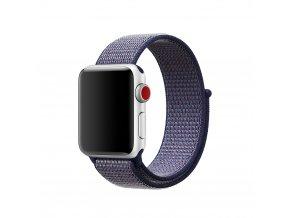 Clearo Sport nylonový řemínek : pásek pro Apple Watch 42mm – tmavě modrý