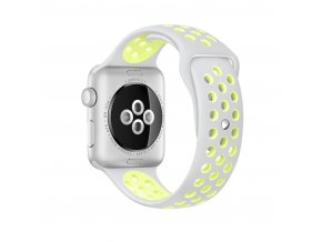 Clearo Sport Silikonový řemínek / pásek pro Apple Watch 42mm – šedo-žlutý