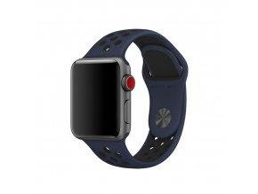 Clearo Sport Silikonový řemínek : pásek pro Apple Watch 42mm – obsidian black