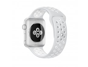 Clearo Sport Silikonový řemínek / pásek pro Apple Watch 42mm – šedo-bílý