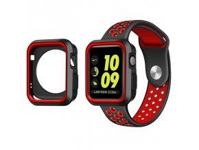 Set Clearo Sport Silikonový řemínek : pásek + Pouzdro pro Apple Watch 38mm – červený