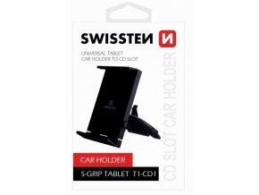 Držák do auta SWISSTEN na tablet  S-GRIP T1-CD1, držák do CD-ROM