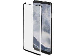 Ochranné tvrzené sklo CELLY 3D Glass pro Samsung Galaxy S9, černé (sklo do hran displeje, anti blue-ray)