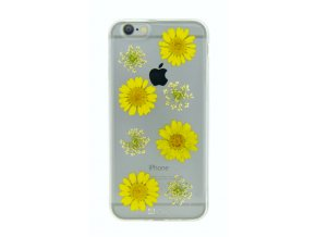 Kryt/Pouzdro 4-OK FLOWER COVER YELLOW DAISY pro Apple iPhone 6/6S