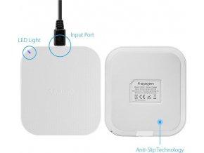 Bezdrátová nabíječka Spigen Essential F302W Wireless Charger, white main