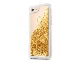 Kryt Guess Liquid Glitter Hard Case pro iPhone 7/8, Gold