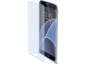 Prémiová ochranná tvrzená fólie na displej CELLY pro Samsung Galaxy S7 Edge, lesklá