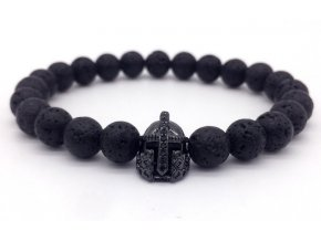 Lávový náramek Clearo Luxury Bracelet Helmet black