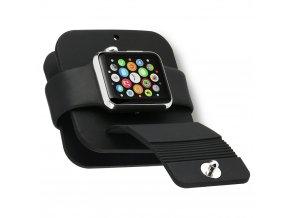 Pouzdro a dokovací stanice s organizérem na kabel Clearo pro Apple Watch