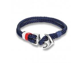 Náramek Clearo Luxury Rope Anchor - modrý main