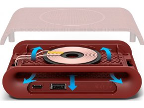 iOttie iON Wireless Pad Plus Ash, red