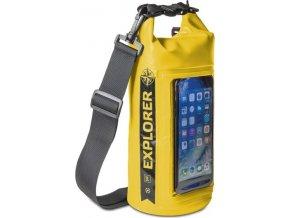 """Voděodolný vak CELLY Explorer 2L s kapsou na telefon do 6,2"""", žlutý"""