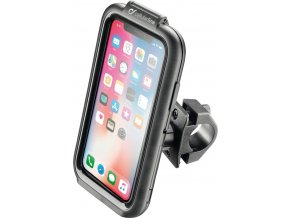 Voděodolné pouzdro Interphone pro Apple iPhone X, úchyt na řídítka, černé
