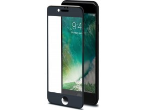 Ochranné tvrzené sklo CELLY 3D Glass pro Apple iPhone 7/8, černé (sklo do hran displeje, anti blue-ray)